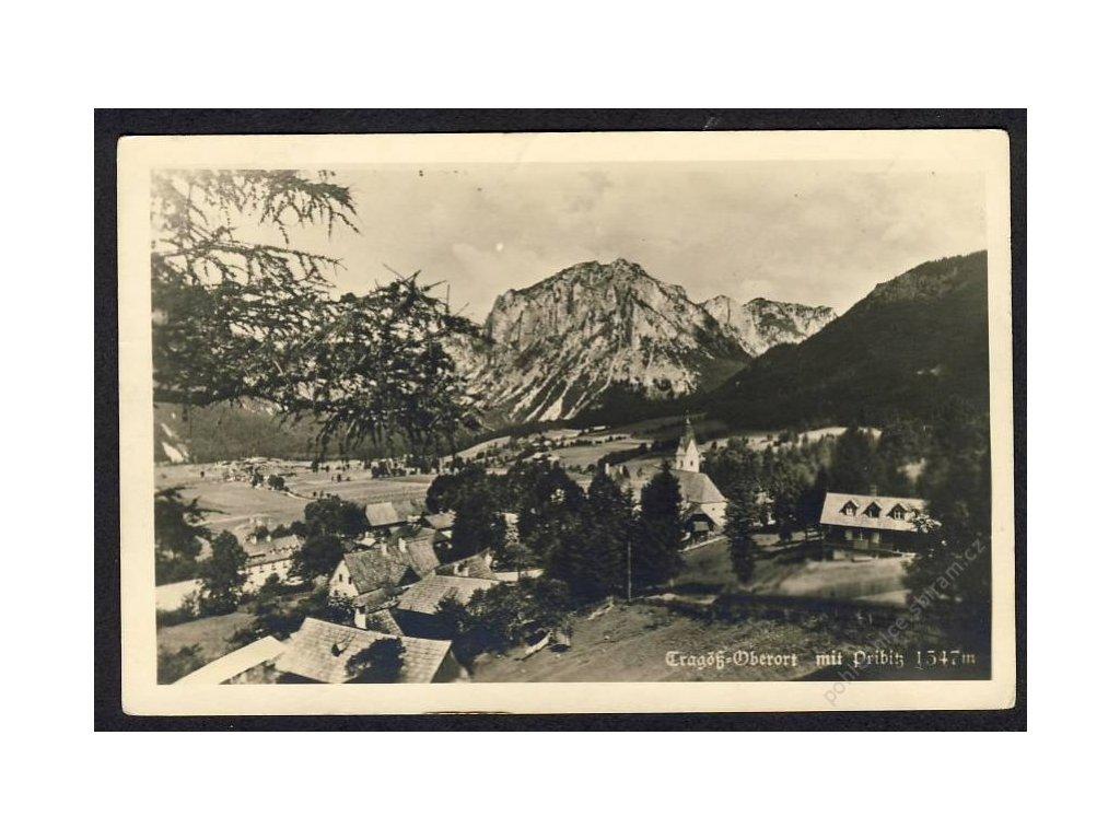 Österreich, Tragöss-Oberort mit Pribitz, cca 1935