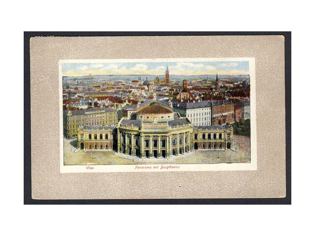 Österreich, Wien, Panorama mit Burgtheater, cca 1910