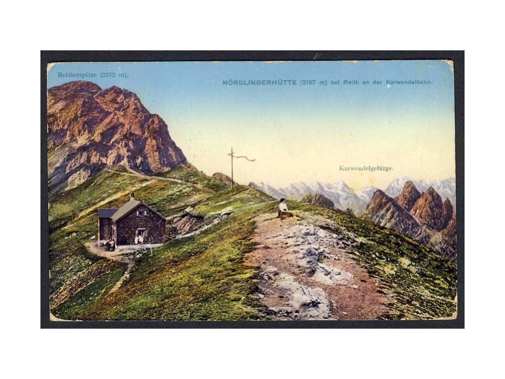 Österreich, Nördlingerhütte bei Reith an der Karwendelbahn, cca 1916