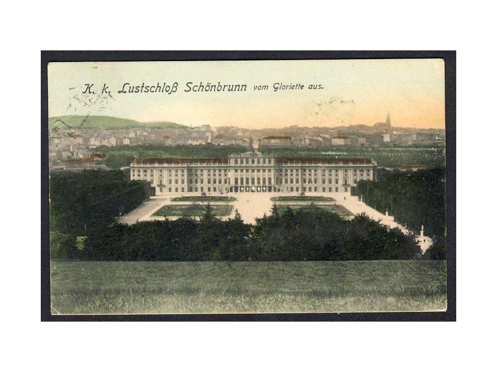 Österreich, K. k. Lustschloss Schönbrunn vom Gloriette aus, cca 1915