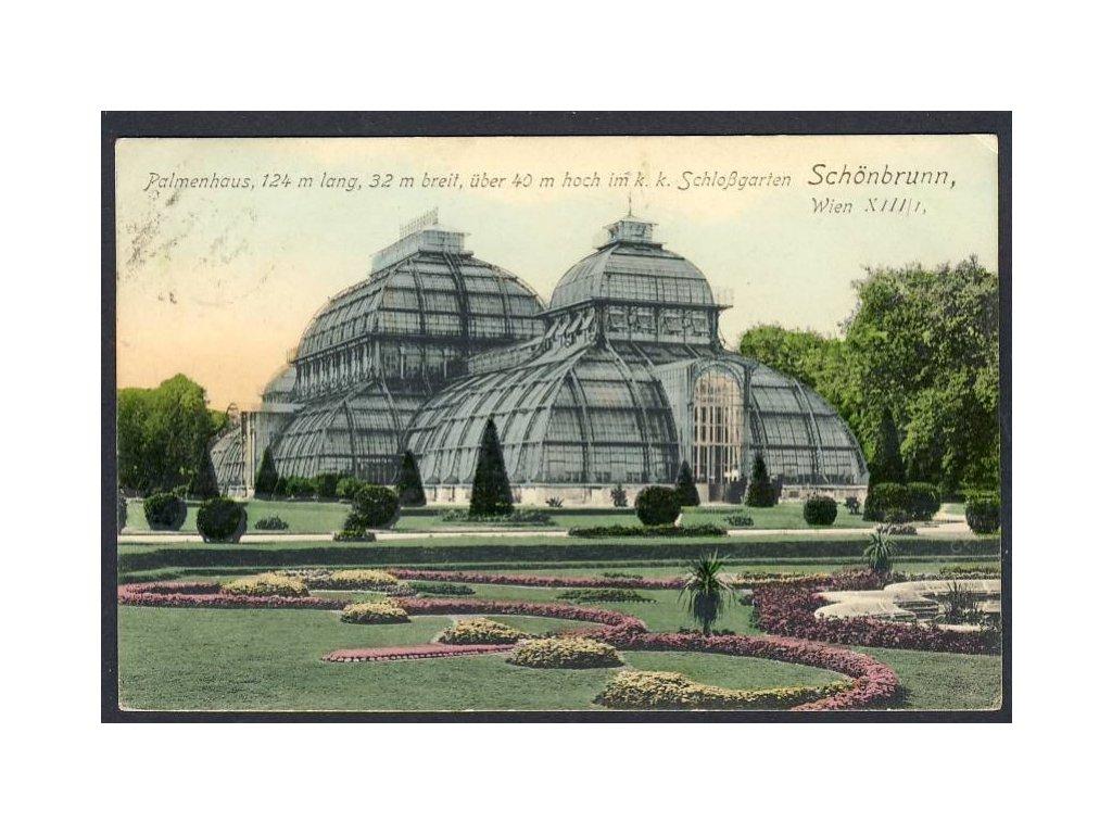 Österreich, Schönbrunn, Palmenhaus, cca 1915