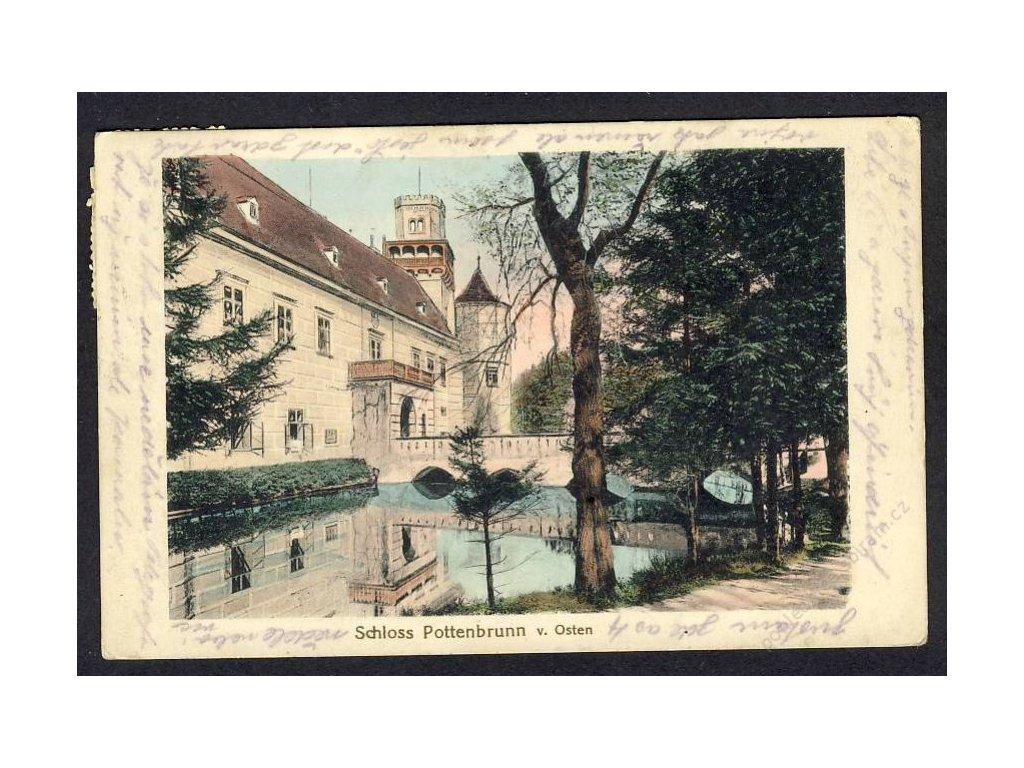 Österreich, Schloss Pottenbrunn v. Osten, cca 1915