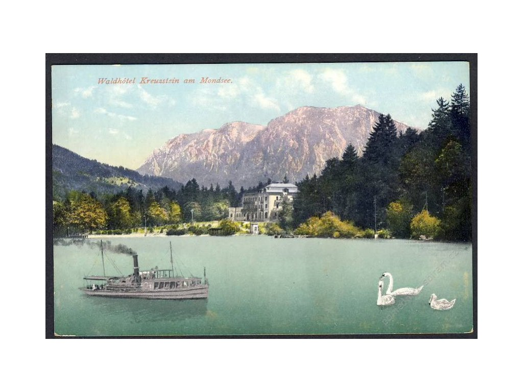 Österreich, Waldhotel Kreuzstein am Mondsee, cca 1908