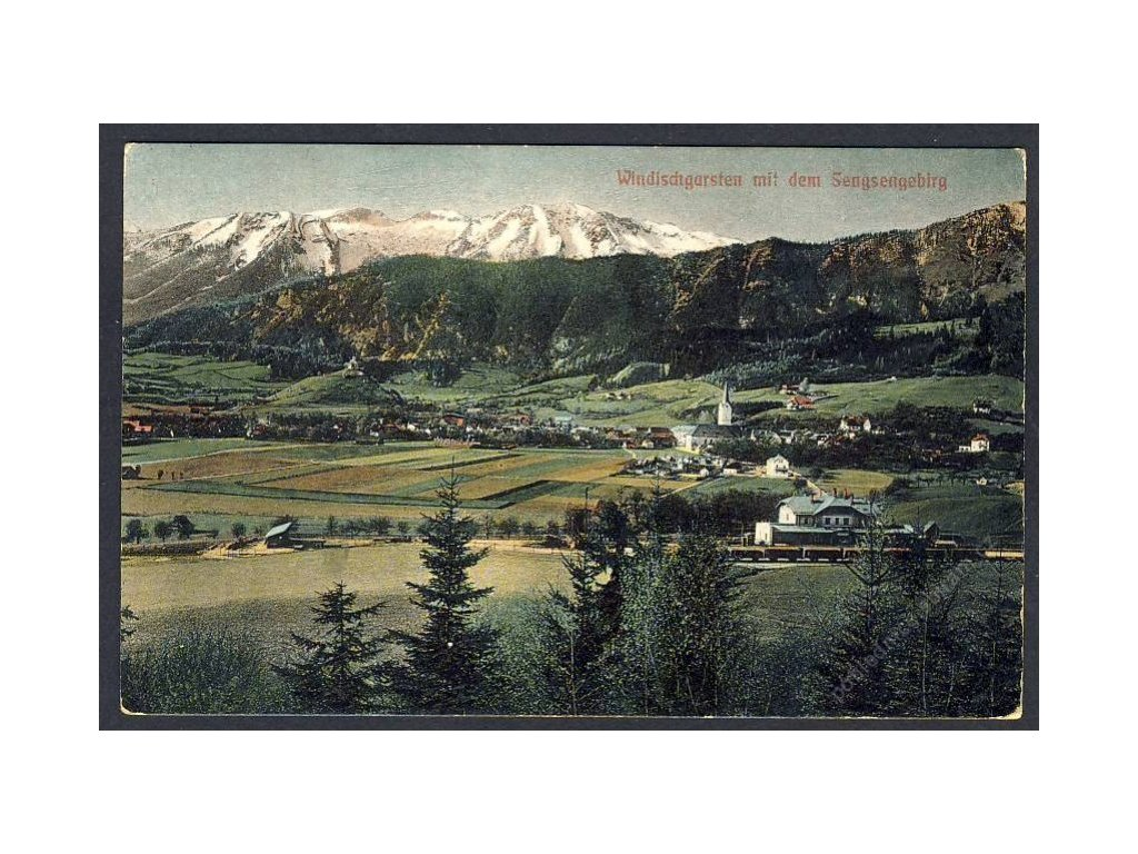 Österreich, Windischgarsten mit dem Sengsengebirg, cca 1908