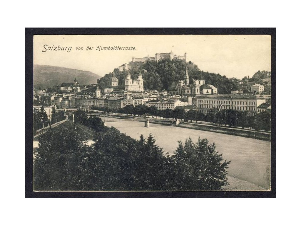 Österreich, Salzburg von der Humboldtstrasse, cca 1918