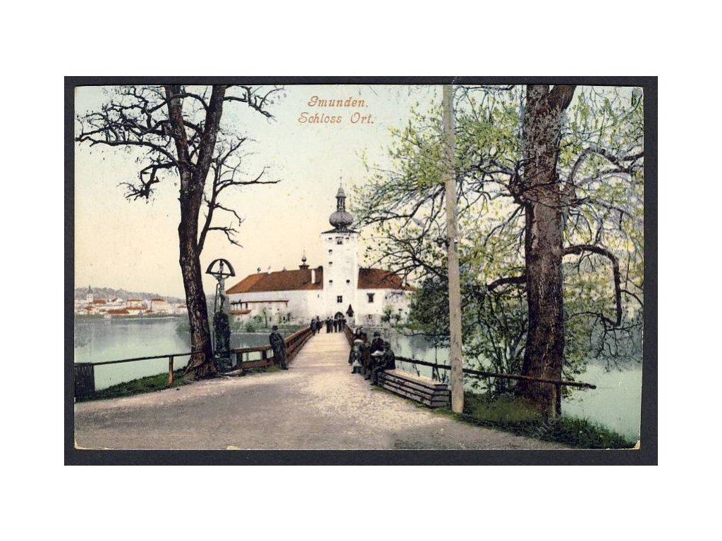 Österreich, Gmunden, Schloss Ort, cca 1908