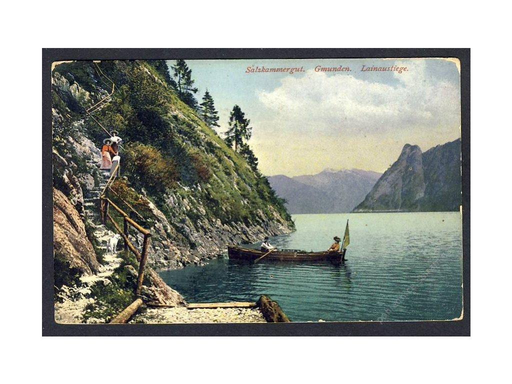 Österreich, Salzkammergut, Gmunden, Lainaustiege, cca 1912