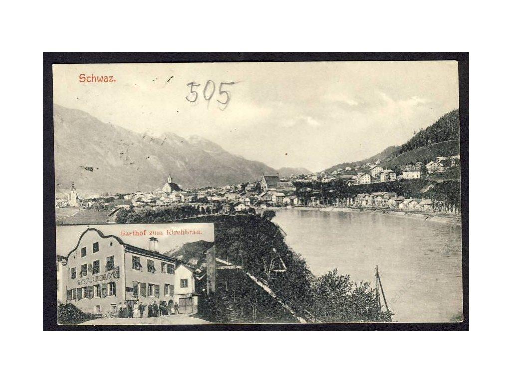 Österreich, Schwaz, Gasthof zum Kirchbräu, cca 1912