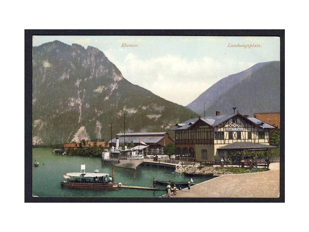 Österreich, Ebensee, Landungsplatz, cca 1908