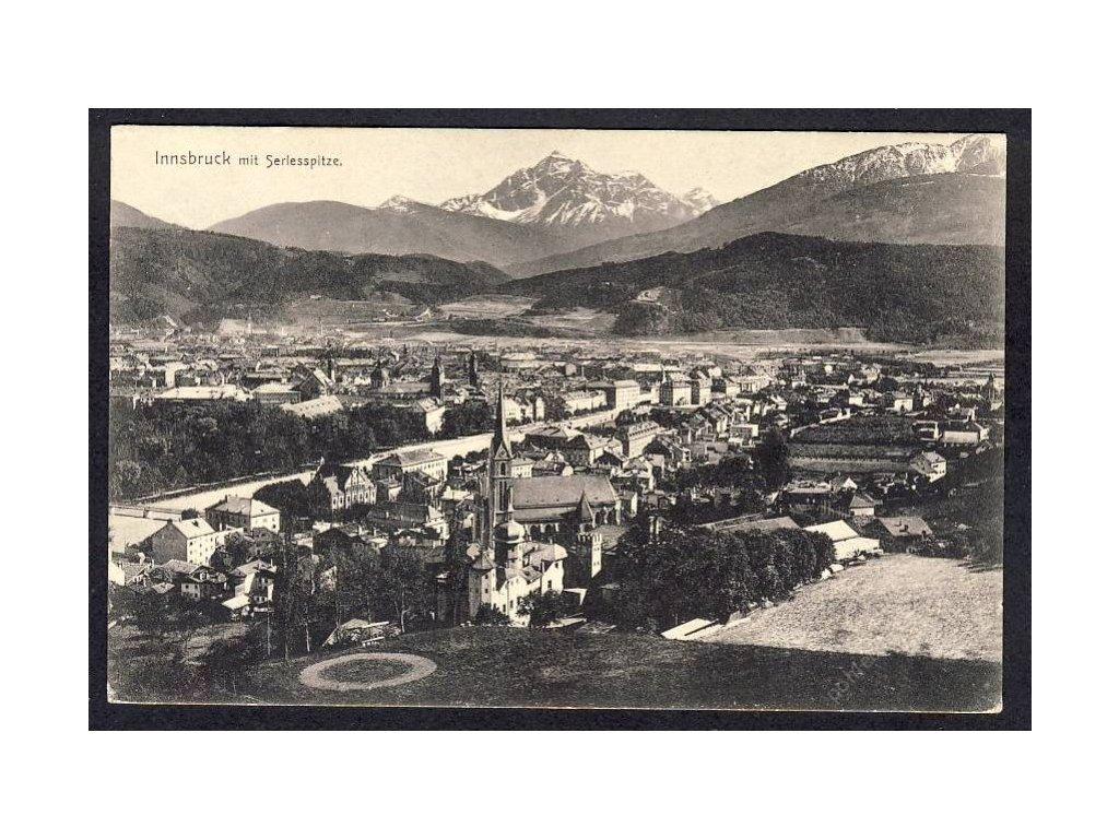Österreich, Innsbruck mit Serlesspitze, cca 1908