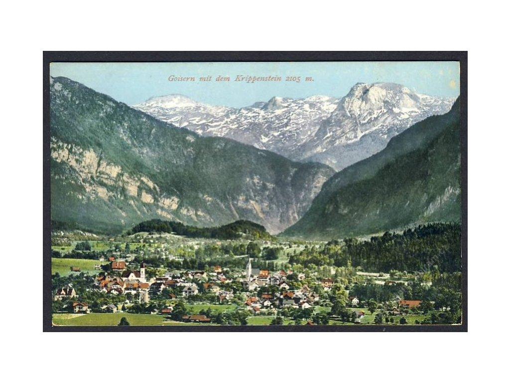 Österreich, Goisern mit dem Krippenstein, cca 1908