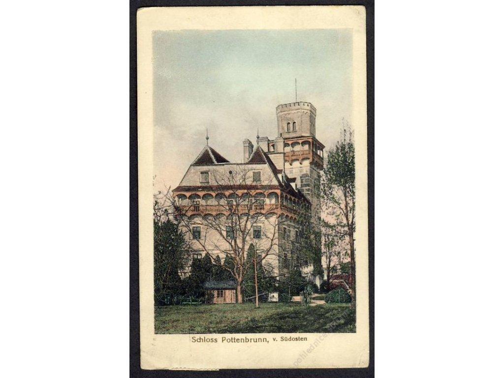 Österreich, Schloss Pottenbrunn, v. Südosten, cca 1913