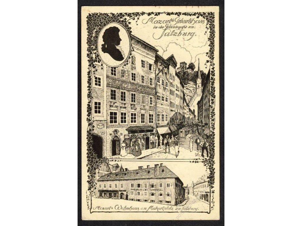 Österreich, Salzburg, Mozarts Geburtshaus, cca 1913
