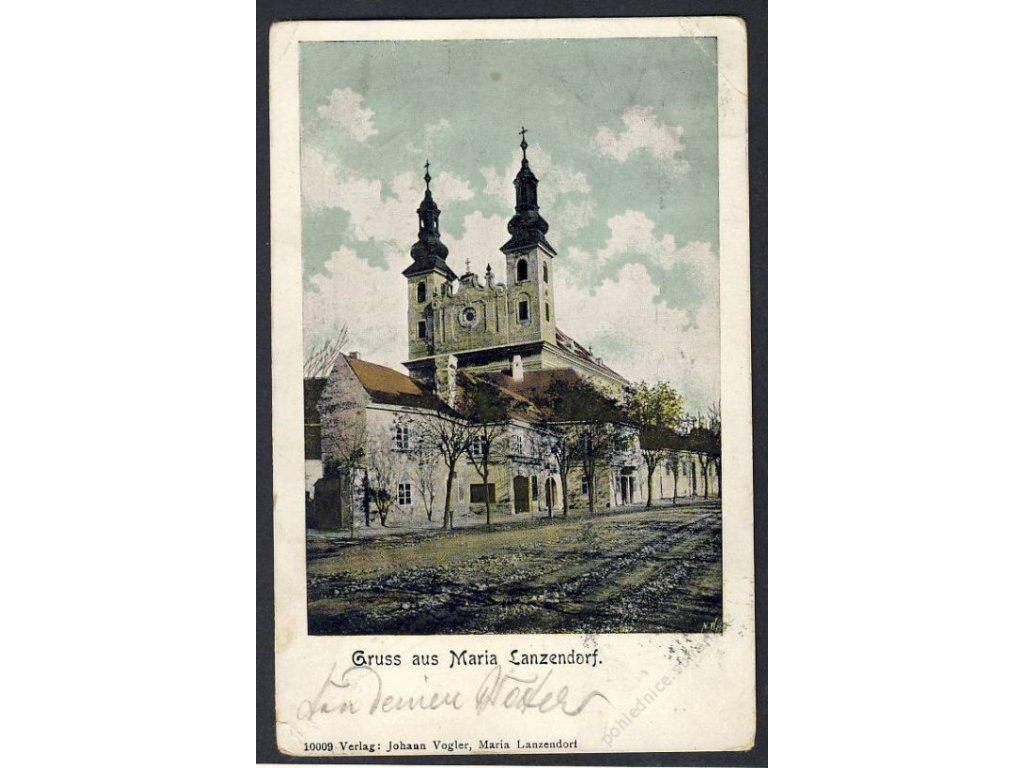 Österreich, Gruss aus Maria Lanzendorf, cca 1901