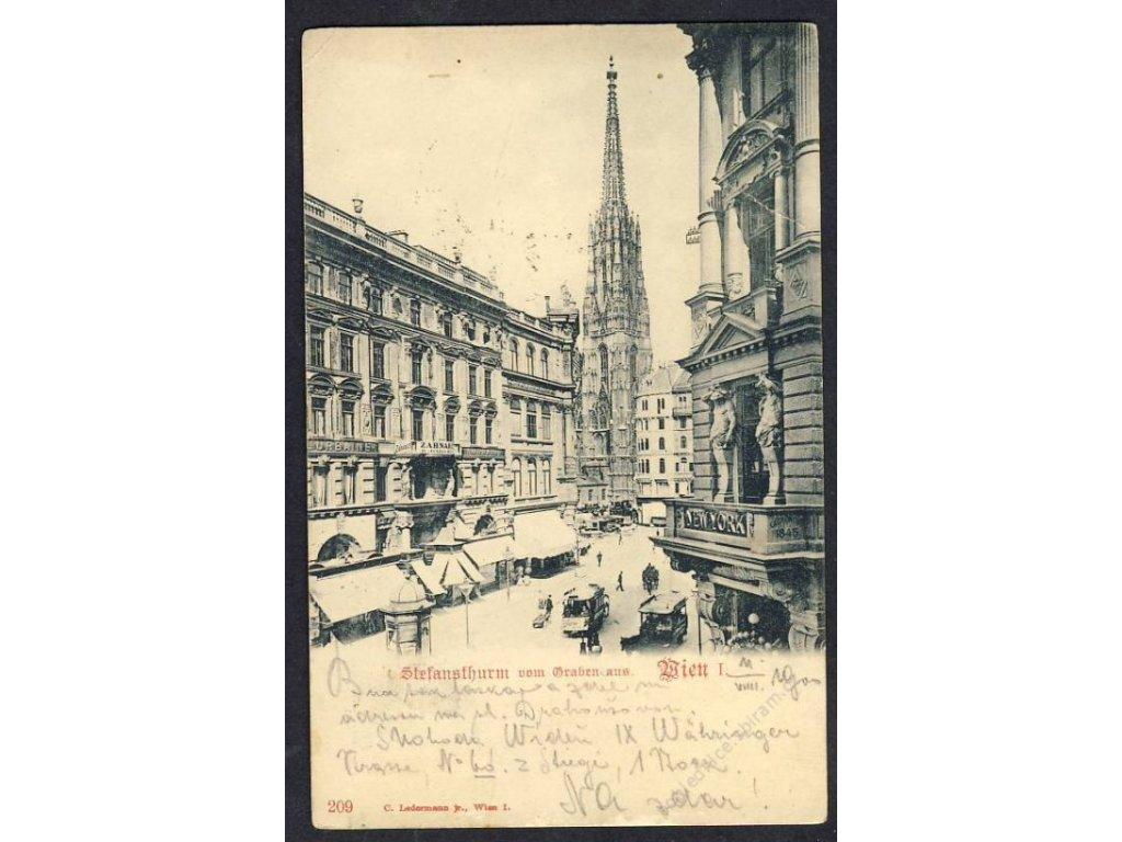 Österreich, Wien, Stephansdom vom Graben aus, cca 1900