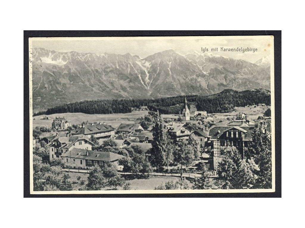 Österreich, Igls mit Karwendelgebirge, cca 1933