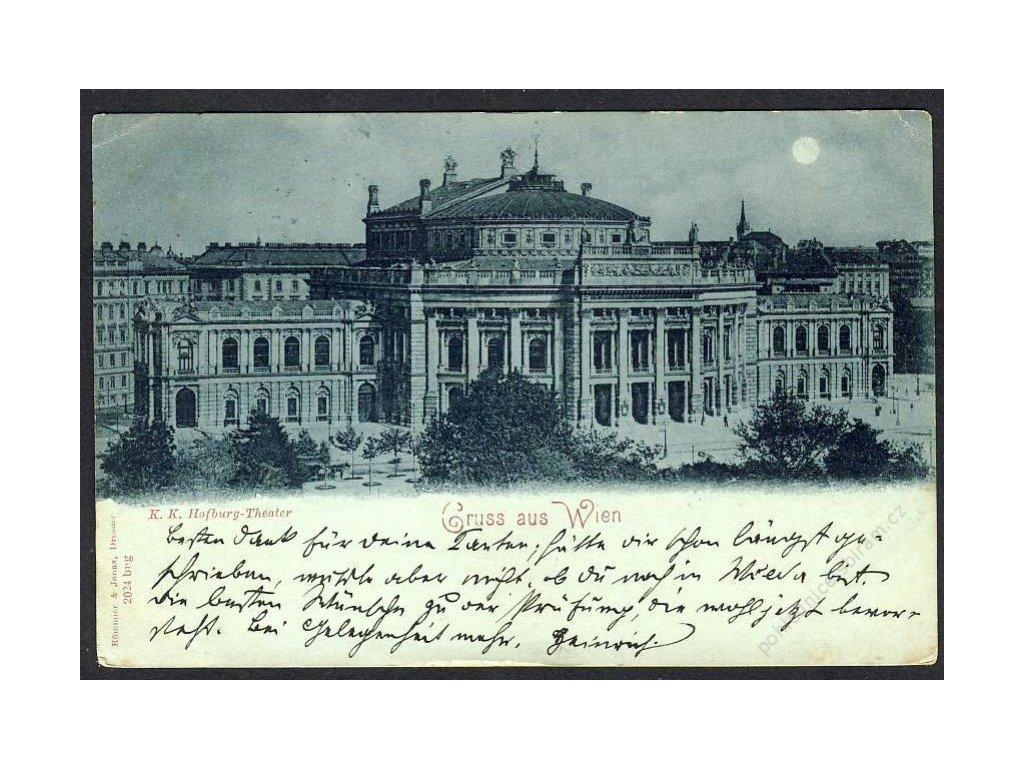 Österreich, Gruss aus Wien, K. k. Hofburg-Theater, cca 1898