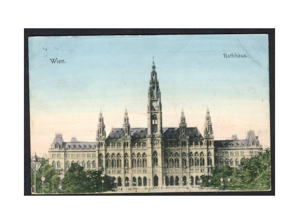 Österreich, Wien, Rathaus, cca 1900