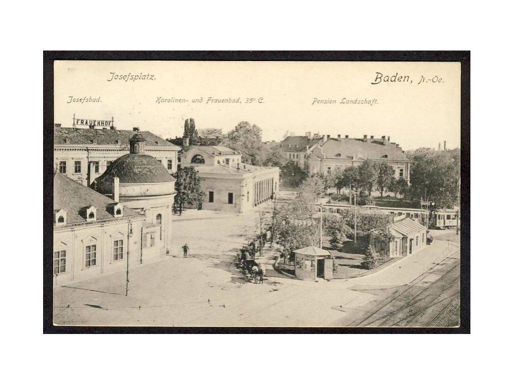 Österreich, Baden, Josefsplatz, cca 1915