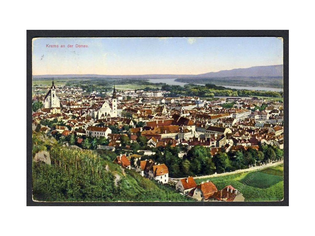 Österreich, Krems a. d. Donau, Totalansicht, cca 1916