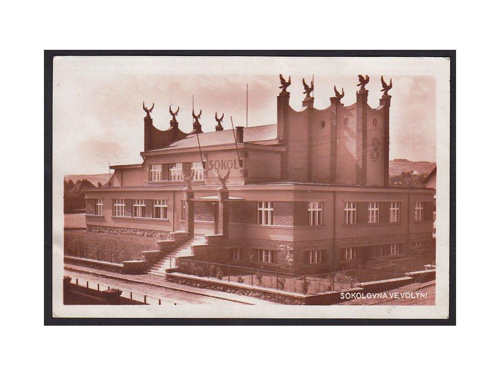60 - Strakonicko, sokolovna ve Volyni, cca 1930