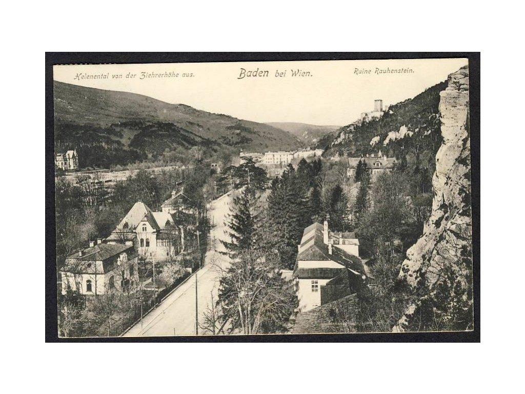 Österreich, Baden bei Wien, Helenental, Ruine Rauhenstein, cca 1915