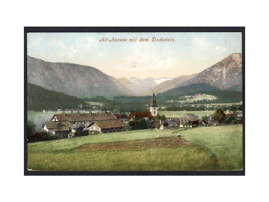 Österreich, Alt-Aussee mit dem Dachstein, cca 1910