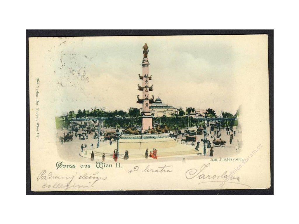 Österreich, Gruss aus Wien, Am Praterstern, cca 1900