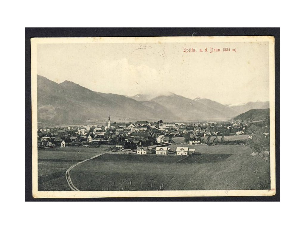 Österreich, Spital a. d. Drau, Totalansicht, cca 1910
