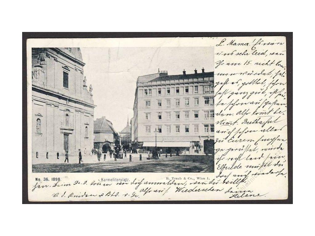 Österreich, Linz, Karmeliterplatz, cca 1898