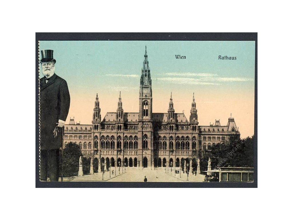 Österreich, Wien, Rathaus, cca 1909
