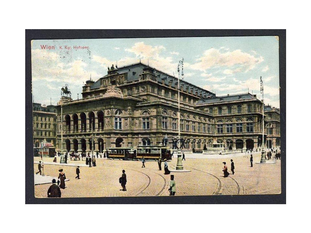 Österreich, Wien, K. kgl. Hofoper, cca 1910