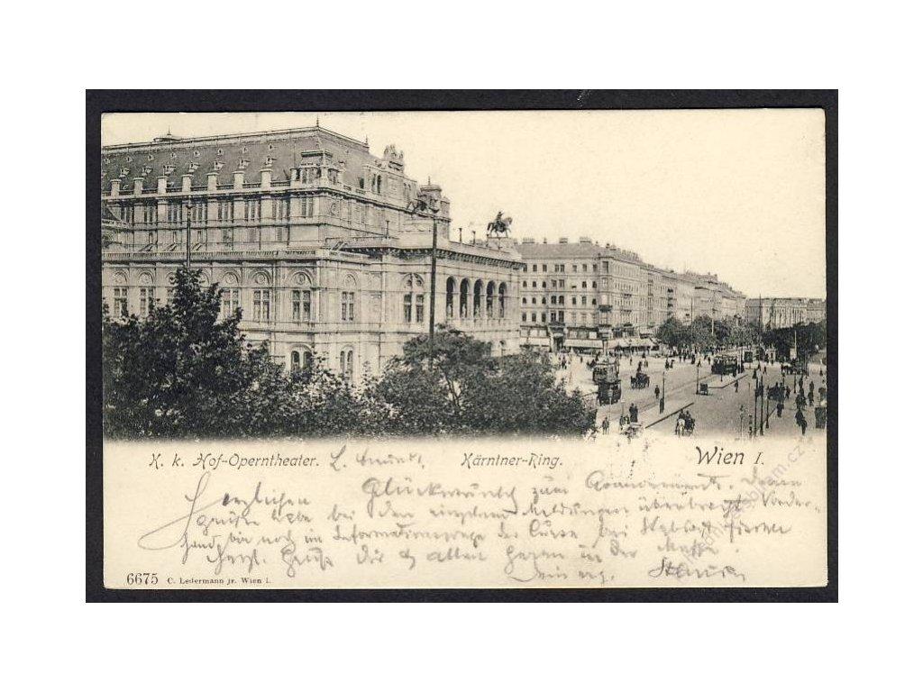 Österreich, Wien, K. k. Hof-Operntheater, Kärntner-Ring, cca 1900