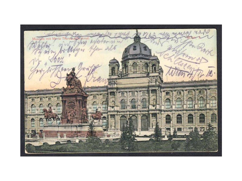 Österreich, Wien, Museum mit Maria Theresia-Denkmal, cca 1910