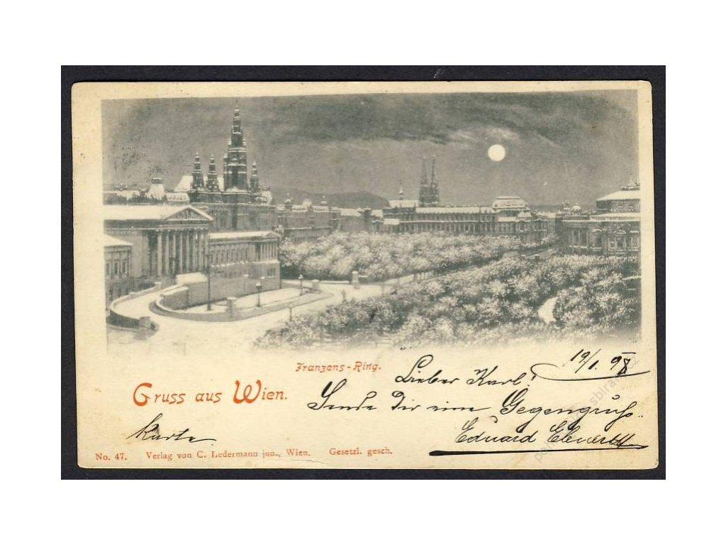 Österreich, Gruss aus Wien, Franzensring, cca1898