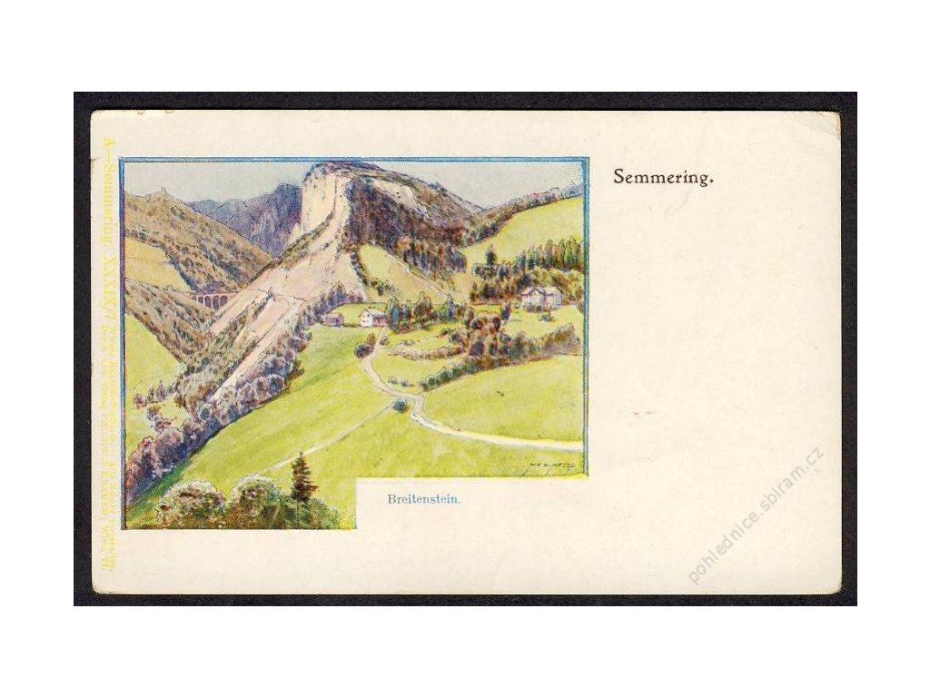 Österreich, Semmering, Breitenstein, cca 1899