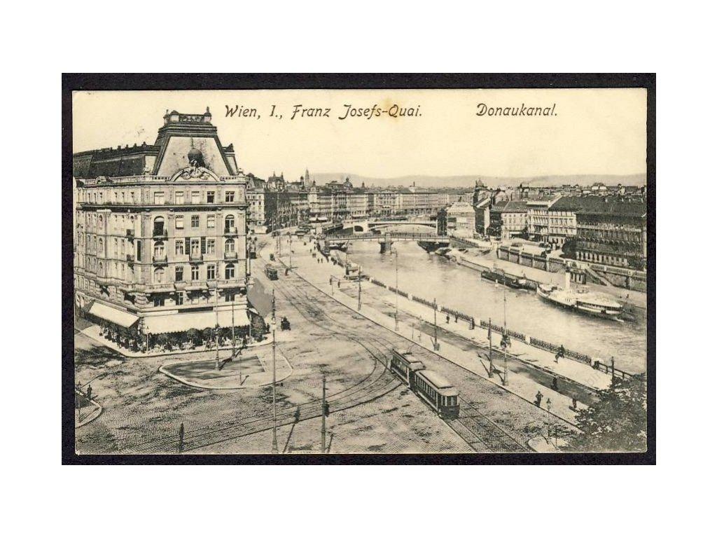Österreich, Wien, Franz Josefs-Quai, Donaukanal, cca 1907