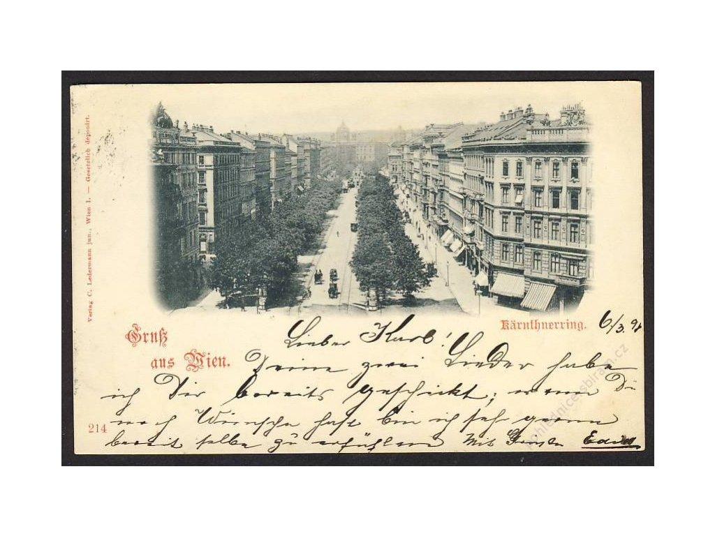 Österreich, Gruss aus Wien, Kärnthnerring, cca 1898