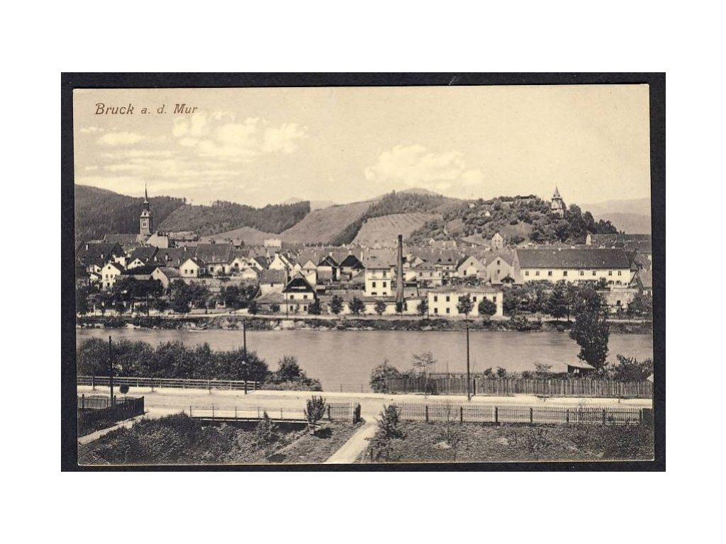 Österreich, Bruck a. d. Mur, Totalansicht, cca 1910