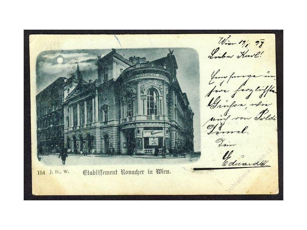 Österreich, Wien, Ronacher, cca 1898