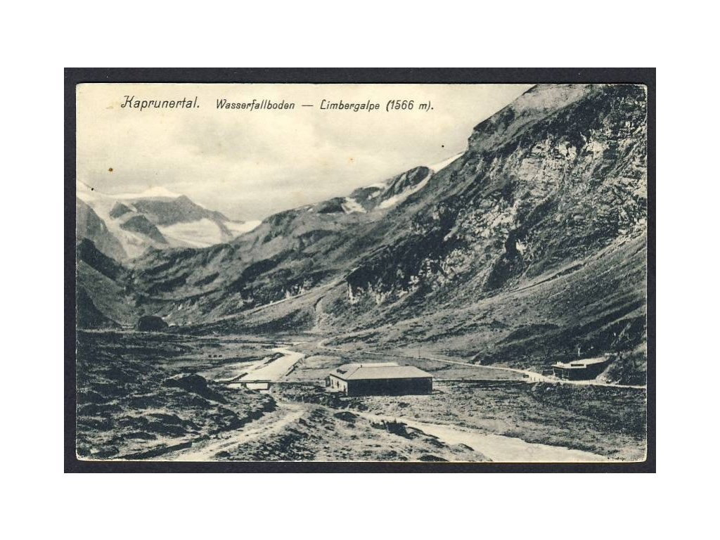 Österreich, Kaprunertal, Wasserfallboden, Limbergalpe, cca 1915