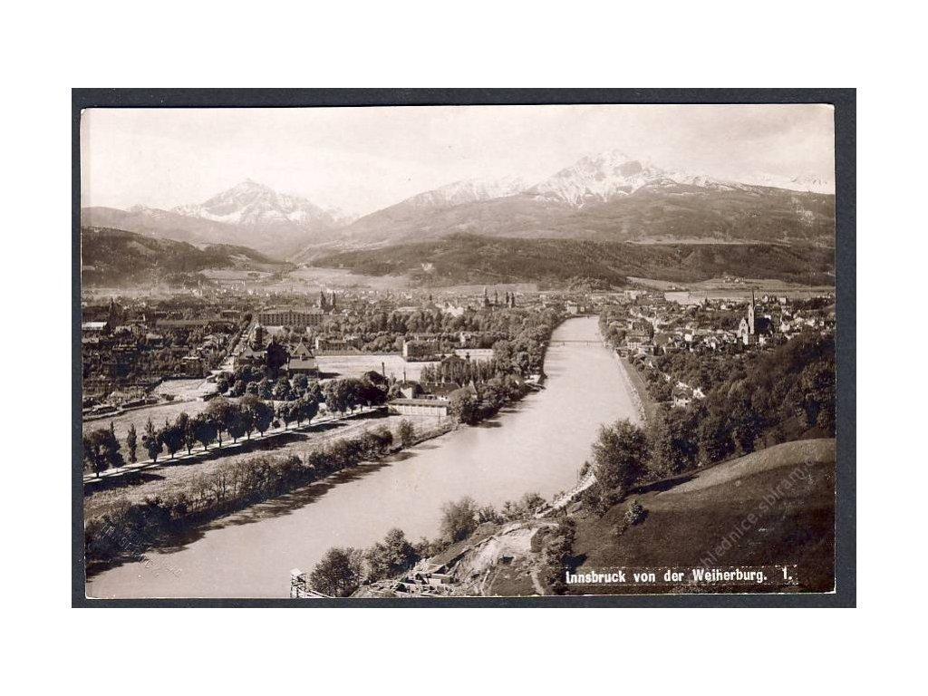 Österreich, Innsbruck von der Weiherburg, cca 1915