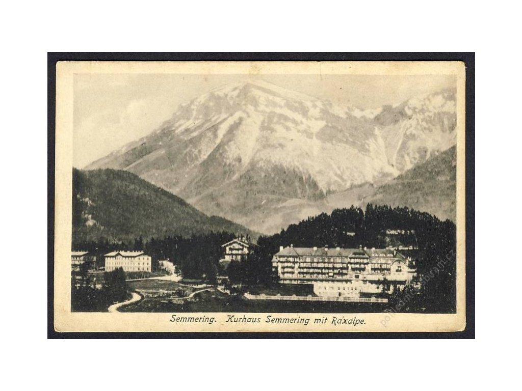Österreich, Semmering, Kurhaus, Semmering mit Raxalpe, cca 1918