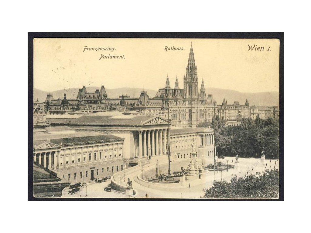 Österreich, Wien, Franzensring, Parlament, Rathaus, cca 1908