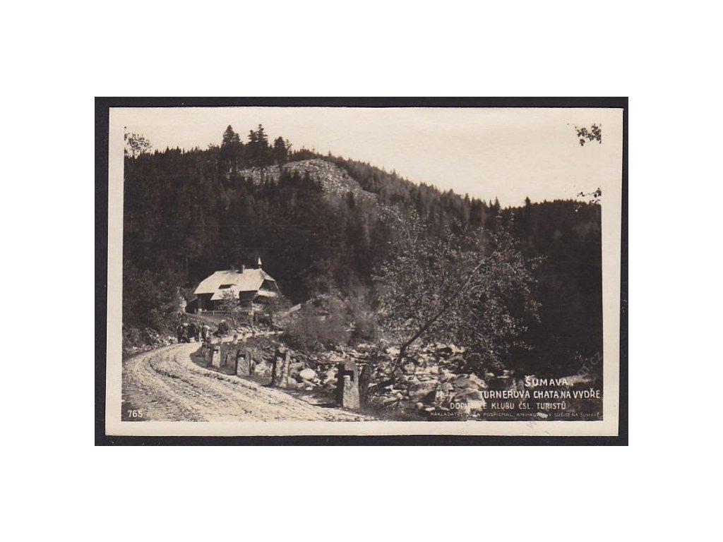 28 - Šumava, Turnerova chana na Vydře, foto Fon č.765, cca 1925