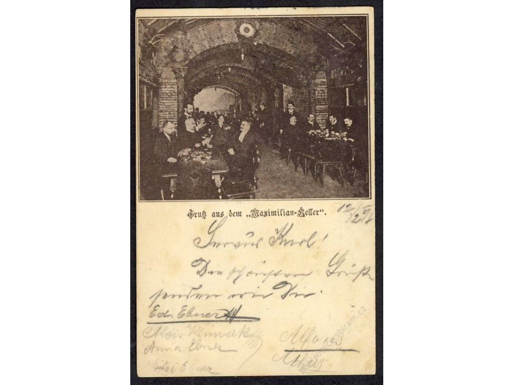 Österreich, Gruss aus dem Maximilian-Keller, cca 1898