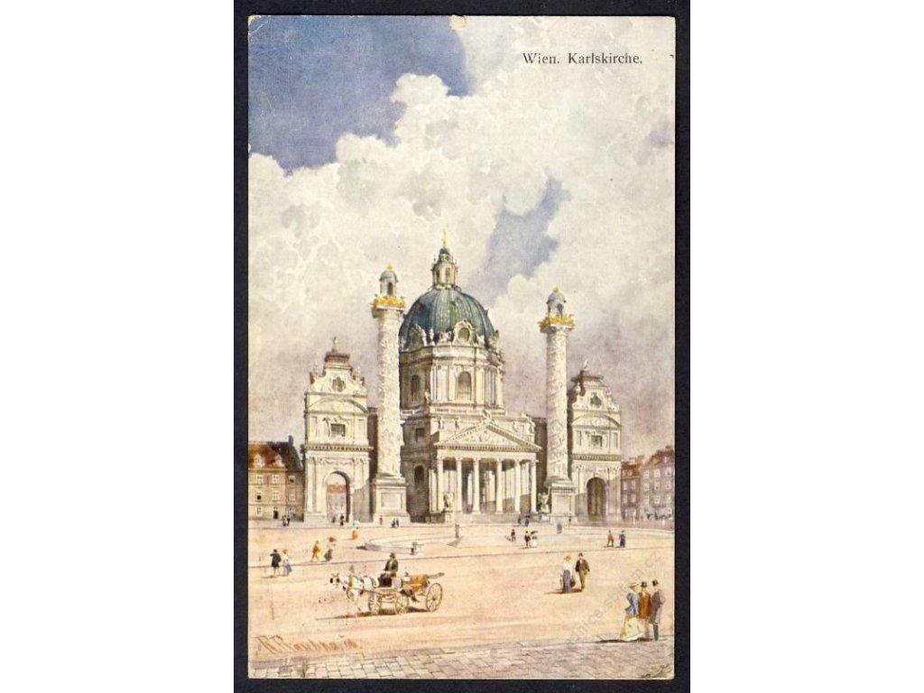 Österreich, Wien, Karlskirche, cca 1909