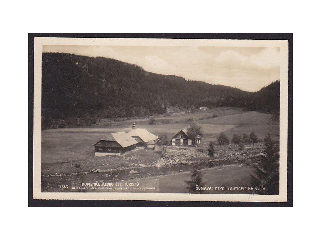 28 - Šumava, Otygl (Antigel) na Vydře, foto Fon č.1333, cca 1925