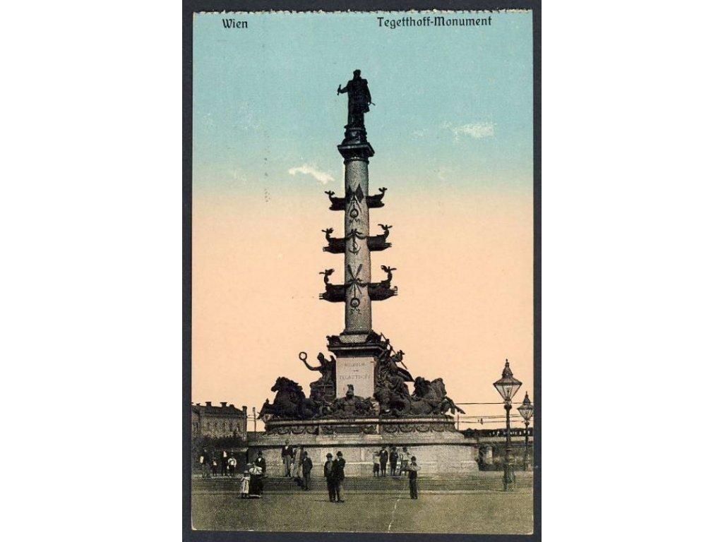 Österreich, Wien, Tegetthoff-Monument, cca 1908