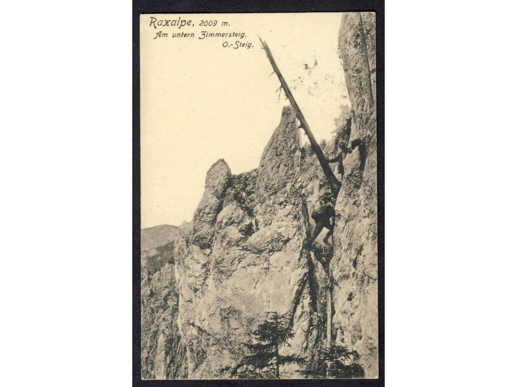 Österreich, Raxalpe, Am unteren Zimmersteig, cca 1913
